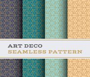 Art Deco seamless pattern 47. Art Deco seamless pattern with 4 colours background Royalty Free Stock Images