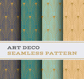 Art Deco seamless pattern 01 Stock Photos