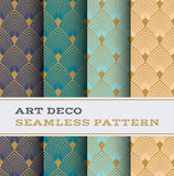 Art Deco seamless pattern 03 Royalty Free Stock Photography