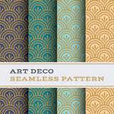 Art Deco seamless pattern 04 Royalty Free Stock Images