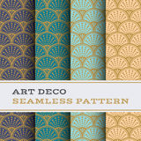 Art Deco seamless pattern 09. Art Deco seamless pattern with 4 colours background Stock Photos