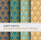 Art Deco seamless pattern 10. Art Deco seamless pattern with 4 colours background Royalty Free Stock Photos