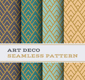 Art Deco seamless pattern 12. Art Deco seamless pattern with 4 colours background Stock Image
