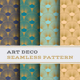 Art Deco seamless pattern 15. Art Deco seamless pattern with 4 colours background Stock Photography