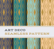 Art Deco seamless pattern 16. Art Deco seamless pattern with 4 colours background Stock Photography