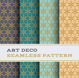 Art Deco seamless pattern 25. Art Deco seamless pattern with 4 colours background Royalty Free Stock Images