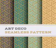 Art Deco seamless pattern 24. Art Deco seamless pattern with 4 colours background Royalty Free Stock Photography