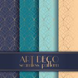 Art Deco seamless pattern. With 4 colours background Stock Image