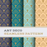 Art Deco seamless pattern 32. Art Deco seamless pattern with 4 colours background vector illustration