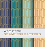 Art Deco seamless pattern 34. Art Deco seamless pattern with 4 colours background vector illustration