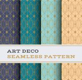 Art Deco seamless pattern 38. Art Deco seamless pattern with 4 colours background vector illustration