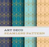 Art Deco seamless pattern 39. Art Deco seamless pattern with 4 colours background vector illustration