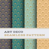 Art Deco seamless pattern 40. Art Deco seamless pattern with 4 colours background royalty free illustration