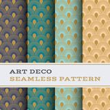 Art Deco seamless pattern 44. Art Deco seamless pattern with 4 colours background stock illustration
