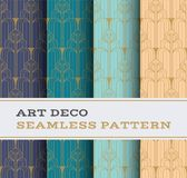 Art Deco seamless pattern 52. Art Deco seamless pattern with 4 colours background Royalty Free Stock Photo