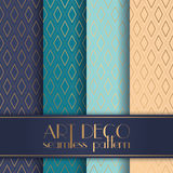 Art Deco seamless pattern. With 4 colours background Royalty Free Stock Photos