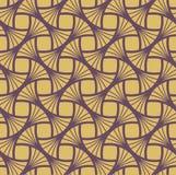 Art Deco Seamless Pattern d'or classique Texture élégante géométrique Rétro texture abstraite de vecteur Images stock