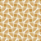 Art Deco Seamless Pattern d'or classique Texture élégante géométrique Rétro texture abstraite de vecteur Photo stock