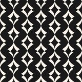 Art deco seamless pattern. Dark texture with curved shapes, rhombuses. Royalty Free Stock Images