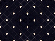 Art deco seamless pattern with diamonds. Style 1920s, 1930s. Vector. Illustration Stock Photography