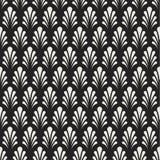 Art Deco Seamless Pattern floral classique Texture élégante géométrique Rétro texture abstraite de vecteur illustration libre de droits