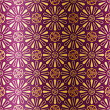 Art Deco seamless pattern with flowers Stock Image
