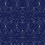 Art Deco Seamless Pattern, fundo geométrico para o projeto, tampa, matéria têxtil, papel de parede, decoração ilustração stock