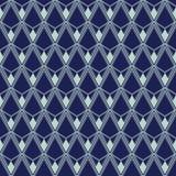Art Deco Seamless Pattern, Geometrische Achtergrond voor ontwerp, dekking, textiel, behang, decoratie Stock Fotografie