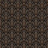Art Deco seamless pattern. Gold on black Vector Illustration