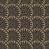 Art deco seamless pattern. Luxury elegant texture. Regularly repeating stylish pattern with round ornaments. Vector abstract seamless background Stock Image