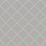 Art deco seamless pattern. Modern stylish texture. Regularly repeating geometrical ornament with thin corner lines, rhombuses. Vector abstract seamless Stock Photography