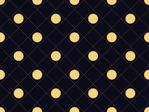 Art deco seamless pattern with round slices of lemon. Gold color, 1920s, 1930s. Vector. Illustration Royalty Free Stock Images