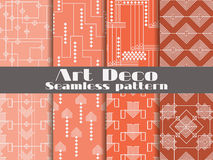 Art deco seamless pattern. Set retro backgrounds. Style 1920`s, 1930`s. Vector. Illustration Vector Illustration