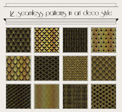 Art deco seamless pattern set Stock Images