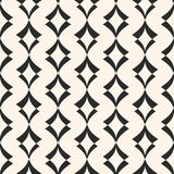 Art deco seamless pattern. Geometric texture with curved shapes. Stock Photography