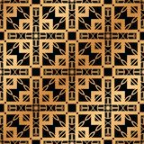 Art Deco Seamless Pattern. Vintage Art Deco Seamless Pattern. Geometric decorative texture royalty free stock image