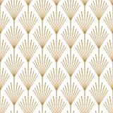 Art Deco Seamless Vector Pattern koppar royaltyfri illustrationer