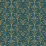 Art Deco Seamless Vector Pattern kricka och koppar vektor illustrationer