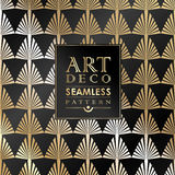 Art Deco seamless vintage wallpaper pattern Royalty Free Stock Photos