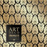 Art Deco seamless vintage wallpaper pattern Royalty Free Stock Photo