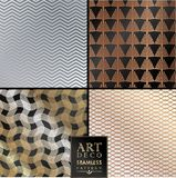 Art Deco seamless vintage wallpaper pattern Stock Photography