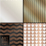Art Deco seamless vintage wallpaper pattern Royalty Free Stock Photos