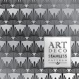 Art Deco seamless vintage wallpaper pattern Royalty Free Stock Image
