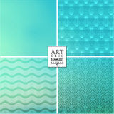 Art Deco seamless vintage wallpaper pattern Stock Photography