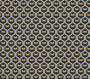 Art Deco seamless vintage wallpaper pattern Stock Photo