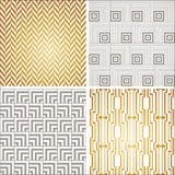 Art Deco seamless vintage wallpaper patterns set