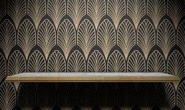 Art Deco Shelf On Wall vacío Fotografía de archivo