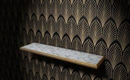 Art Deco Shelf On Wall vacío Foto de archivo