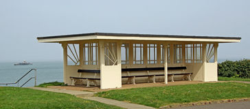 Art deco shelter Stock Photography