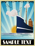 Art deco ship vector Stock Images